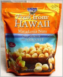 MacFarms Macadamia Nuts Dry Roasted with Sea Salt 24Oz Sealed bag Exp. 12/2022