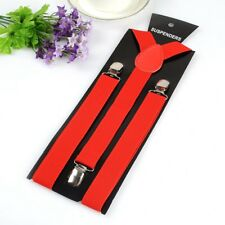 Men Women's Y-back Style Elastic Suspenders Clip On Shirt Pants Belt Braces New