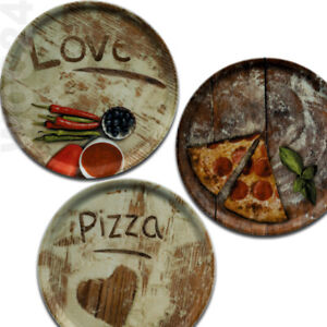 2er SET Pizzateller 31 cm Porzellan Pizza Teller gastrogeeignet GASTRO Love Herz