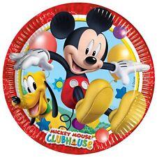Niño Niña Pequeño fiesta cumpleaños Mickey Mouse Clubhouse Papel Vajilla Platos