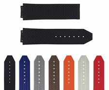 24-25MM RUBBER WATCH STRAP BAND FOR HUBLOT FUSION BIG BANG 44-44.5-45MM CERAMIC
