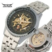 JARAGAR Mens Automatic Watch Self Winding Mechanical Wristwatch Stainless Dial