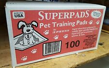 Superpads Pet Training Pads 22 x 23 100 CT wee wee pads puppy pads SP100