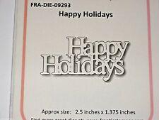 "FRANTIC STAMPER  - ""HAPPY HOLIDAYS""  FRA9293 PHRASE XMAS  FOR CARDS & SCRAPBOOK"