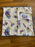 vintage small Square Linen tablecloth