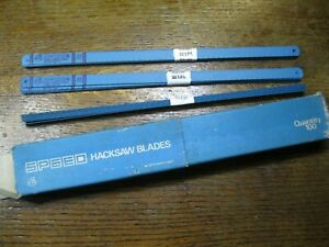 "10 x 12"" (300mm) HACKSAW BLADES 32 TPI. NEW. Made in Sheffield England"