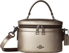 aa6bd3a81c6 COACH Womens Metallic Trail Selena Metallic Sheen Crossbody Handbag Bag New