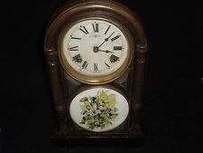 Antique Chinese 8 Day Mantel Clock