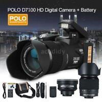 "POLO D7200 Digital DSLR Camera ULTRA HD 33MP 3""LCD 24X ZOOM Camcorder+Flashlight"
