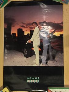 Miami Vice VINTAGE 1984 21x32 Western Graphics Poster #55 Don Johnson