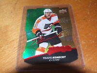 2017-18 UPPER DECK MVP COLORS CONTOURS FACSIMILE AUTO TRAVIS KONECNY L1 GOLD