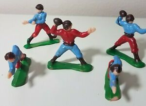 Vintage Football Players Cake Toppers Decoration - Made in Hong Kong