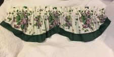 💜WAVERLY SWEET VIOLETS PURPLE GREEN FLORAL LAYERED VALANCE 70X18 EUC