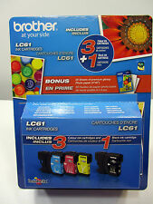 Brother LC61 3 Colour 1 Black Ink Cartridges 20 Sheets 4X6 Glossy Photo Paper