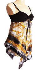Dames Vintage écharpe imprimé tunique plage haut compatible avec tailles UK 10