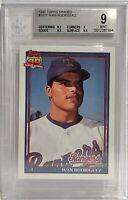 1991 Topps Traded #101T Ivan Rodriguez Beckett BVG 9 Texas Rangers Rookie
