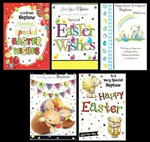 NEPHEW Quality Easter card ~ Great Selection To Choose From