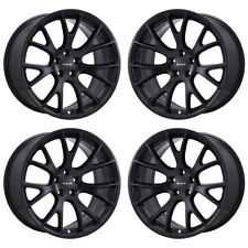 "20"" DODGE CHARGER CHALLENGER SRT HELLCAT BLACK WHEELS OEM 2528 EXCHANGE"