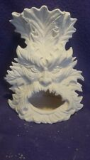 "Greenman Chimnea or Tealight Candleholder  9"" Ceramic Bisque, Ready To Paint"