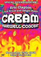 Cream - Farewell Concert DVD Extended Edition Eric Clapton - Jack Bruce Ginger