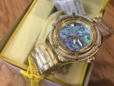 24452 Invicta Women's Bolt Quartz Multi Function Abalone Dial SS Bracelet Watch
