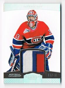 2011-12 Dominion Silver Rainbow Patch #49 Patrick Roy 04/10 !! 3 Color