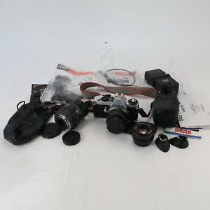 Pentax ME Super 35MM Film Camera Huge Bundle + Pentax 28-80MM Lens Cosina & More