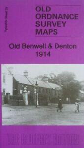 Old Ordnance Survey Map Old Benwell & Denton 1914