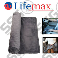 Lifemax Far Infrared Heated Lap Blanket - Fleece touch material