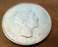 Luxembourg 100 Francs, 1963 Silver Crown