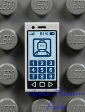 NEW Lego Minifig Gray SMART CELL PHONE 1x2 PRINTED TILE Girl Friends iPhone iPod