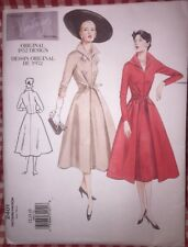 Vogue Vintage Model Dress Pattern 2401 Uncut Original 1952 Design Sz 12-14-16