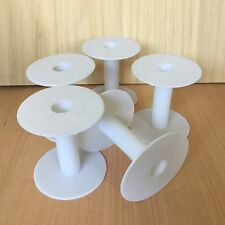 10 Empty plastic ribbon wheel reel spool bobbin jeweller