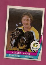 RARE 1977-78 OPC WHA # 43 STINGERS CLAUDE LAROSE MINT CARD  (INV#1357)