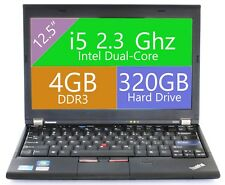 "FAST Lenovo 12.5"" Laptop Dual Core i5 4GB  Webcam Windows 10"