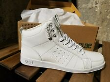 Men's Clae Russell White Patent High Top sz 10.5