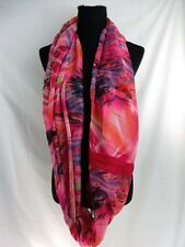 US SELLER-cowl eternity loop scarf wrap colorful abstract print infinity scarf