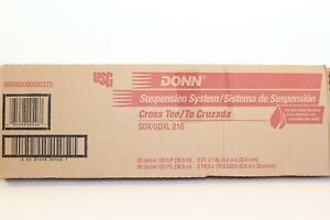 "New Case Of 60 Pieces Donn Suspension System 2' x 1"" Fire Rated Cross Tees"
