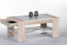 Couchtisch Finley Plus in Sonoma Weiß, Wohnzimmertisch, Stubentisch, 100x58 cm