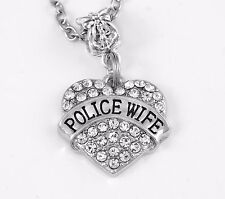 Police wife charm Policemans spouse jewelry cops wives gift Best jewelry sherrif