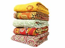 10 Vintage Kantha Quilt Wholesale Lot Handmade Antique Throws Reversible ON SALE