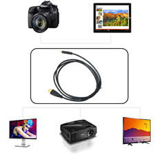 PwrON Mini HDMI A/V TV Video Cable for Panasonic Lumix DMC-TZ20 DMC-GF2 DMC-LX5