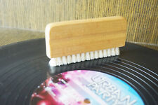 Wood Goats Hair Vinyl Record Cleaning Brush - aturally anti-static bristles