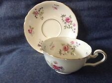 VINTAGE VICTORIA C&E BONE CHINA ENGLAND ROSES FORGET ME NOT TEA CUP AND SAUCER