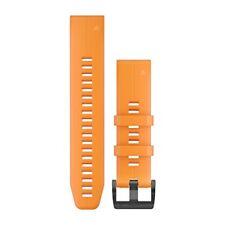 Garmin 010-12740-04 Quickfit 22 Watch Band Solar Flare Orange Silicone Fenix 5