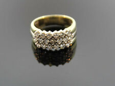 3-reihiger BRILLANTE RING 585er ORO 0,95ct valore 2500,- EURO