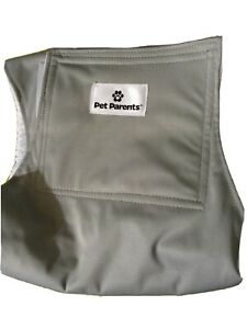 Pet Parents Premium Washable Dog Belly Band 1 only Large Gray Male Dog Diaper