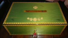 Elie Bleu Medals Green Pistachio Sycamore   Humidor 120 Count Cigars RARE NICE!
