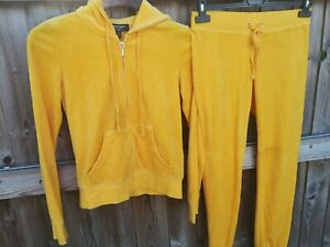 Yellow Tracksuit Juicy Couture black label Ladies XS *excellent Condition*