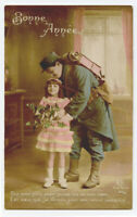 WWI ww1 First World War One 1 Little GIRL SOLDIER DADDY patriotic photo postcard